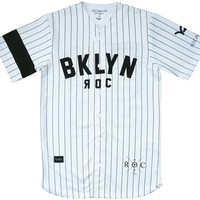 justanother.co.uk. Rocawear Clothing: Rocawear Campy baseball jersey top in white