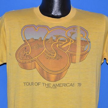 70s Yes Tour Of The Americas 1979 t-shirt Medium