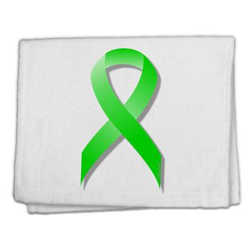 "Lyme Disease Awareness Ribbon - Lime Green 11""x18"" Dish Fingertip Towel"