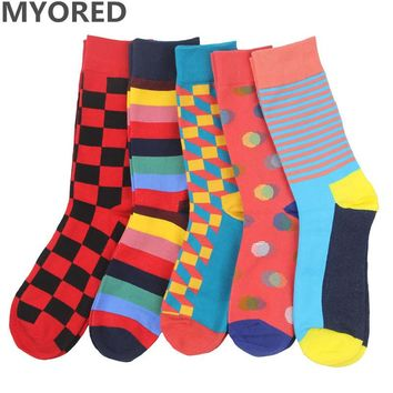 MYORED Colorful Patterned Dress Socks (5 Pairs)