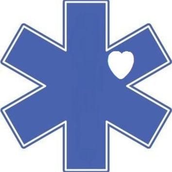 EMT Paramedic Decal - EMT Car Sticker - Paramedic Car Decal