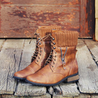 Ski Hill Sweater Boots in Cognac