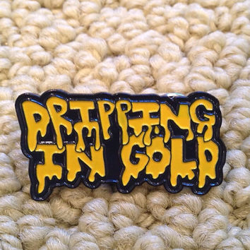 Dripping in gold hat pin -  Adventure Club