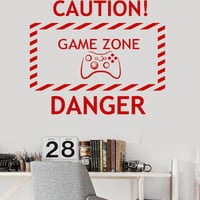 Vinyl Wall Decal Game Zone Video Game Teen Room Gaming Stickers (ig3662)