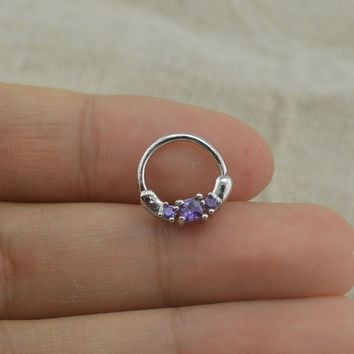 septum clicker septum ring,diamond nose ring,nose ring
