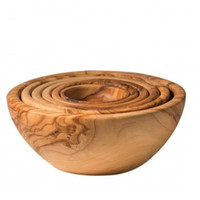 Olive Wood Set of 6 Nesting Bowls