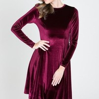 Lap of Luxury Velvet Dress - Burgundy FINAL SALE!