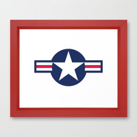 US Air force Roundel insignia Framed Art Print by Bruce Stanfield