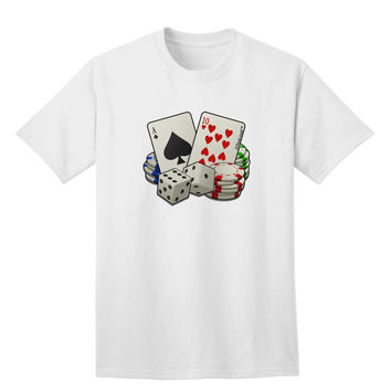 Gambling Weapons Adult T-Shirt