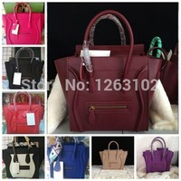 New 2015 Famous Designers C Brands Smiley line Bags Plain Genuine Leather Women Handbag Women Message Bag Size 30 26 20 CM-in Top-Handle Bags from Luggage & Bags on Aliexpress.com   Alibaba Group