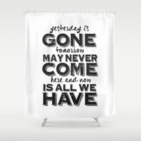 Here And Now Shower Curtain by Timothy Davis