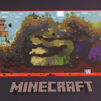 Minecraft Video Game Poster 22x34