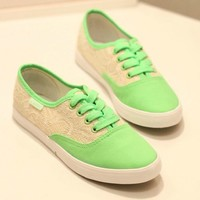Cute lace canvas shoes