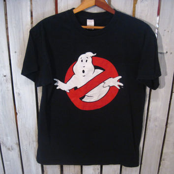 Ghost Busters T-Shirt, Size Medium. I Ain't Afraid of No Ghost! Reconstruction Available!