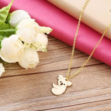 Big Sale Cute animal necklace jewelry Cute koala bear necklace Tropical animal necklace Hot to send friends gifts