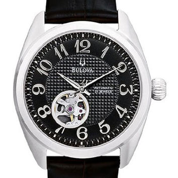 Bulova 96A125 Men's Mechanical Black Dial Automatic Watch