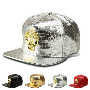 Hip-hop Hats Skull Baseball Cap [10210215107]