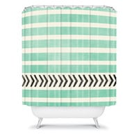 Allyson Johnson Mint Stripes And Arrows | DENY Designs Home Accessories