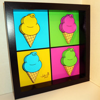 Ice Cream Pop Art Kitchen Decor by PopsicArt on Etsy