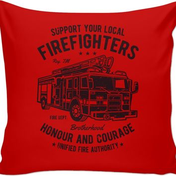Support Firefighters Couch Pillow