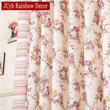 Pastoral Floral Blackout Curtains For Living Room Modern Curtains For Bedroom Window Voile Kitchen Curtain Blinds Girls Drapes