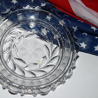 Cut Glass Bowl, Patriotic with Stars(1)