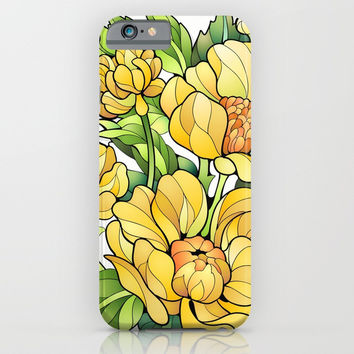 Yellow Flowers iPhone & iPod Case by MIKART