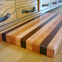 Wood Cutting Board Oak Walnut Cherry Rectangle Wooden Board