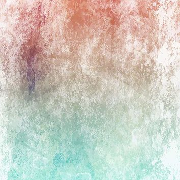 Printed Textured Abstract Overlay Red Aqua Gradient Backdrop - 6964