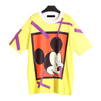 Mickey Mouse Printed Yellow T-Shirt