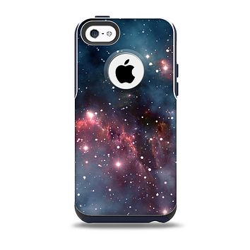 The Bright Pink Nebula Space Skin for the iPhone 5c OtterBox Commuter Case