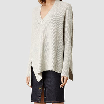 Womens Able Zip Sweater (Mist Marl) | ALLSAINTS.com