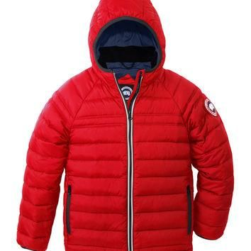 Sherwood Hooded Puffer Jacket, Red, Size XS-XL, Size: