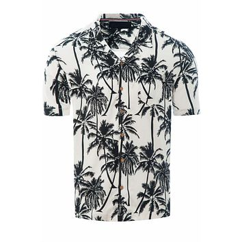 MS PALM Black S/S Casual Shirt