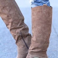 Make Me Madden Buckle Boots (Beige)