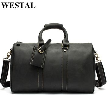 Leather Duffle Travel Bag  Suitcase Leather Luggage Bag  Crossbody bag Man bag mens