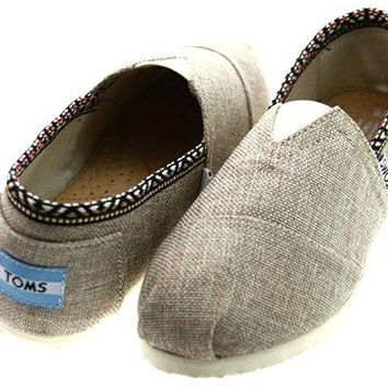 Cheap Toms Shoes On Sale Outlet Store Online-Save 80% Off - Toms Womens Classics Linen Shoes Grey