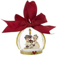 disney christmas holiday ornament victorian mickey minnie dome new with tags