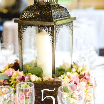 Rustic Wooden Table Numbers - Rustic Weddings - (WT-2)