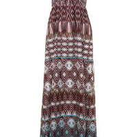 Aztec Print Shirred Maxi - Clothing - New In - Miss Selfridge