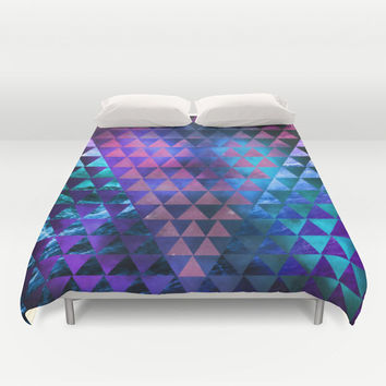 Duvet Cover Made to Order, Geometric, Galaxy, Purple and Blue, Hipster Bedding, Abstract Comferter, Blanket, Bedroom
