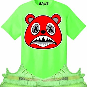 ANGRY BAWS Sneaker Tees Shirt - Yeezy 350 Boost Volt Glow