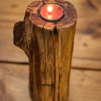 Tea Light Holder Rustic candle holder Wedding Centerpiece cedar candle holder cottage chic shabby chic country living wooden candle holder