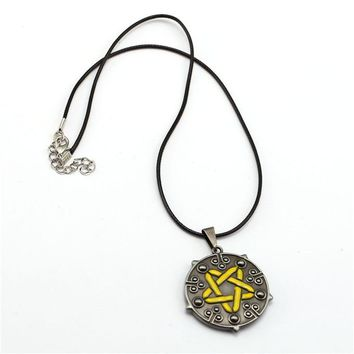 Julie Game Souvenir The Witcher 3 Wild Hunt Yennefer of Vengerberg Pendant  Rope Necklace Fans Gift Game Jewelry Accessories