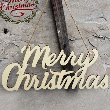 Merry Christmas Letter Hanging Pendants Party Decoration