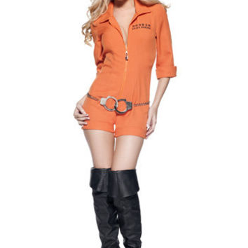 Womens Prison Jumpsuit - Sexy Prisoner Halloween Costumes