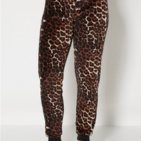 Cheetah Plush Sleep Jogger