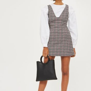 PETITE Checked A-Line Pinifore Dress - Dresses - Clothing