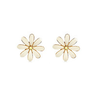 River Island Womens White chunky daisy stud earrings