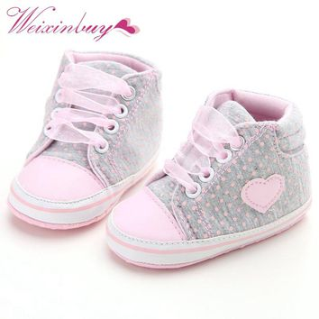 Cute Pink Polka Dots First Walkers